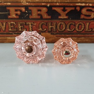 Glass Fluted Knobs (Pink)