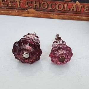 Glass Fluted Knobs (Purple)