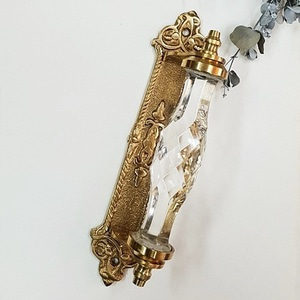 Crystal gold plate handle-Clear