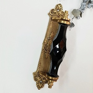 Crystal gold plate handle-Black