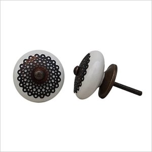 Ceramic knob-cream lace