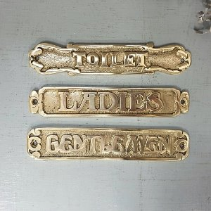Brass line door sign(3종)