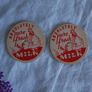 vintage milk bottle cap