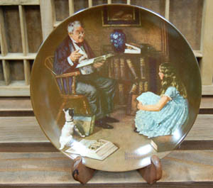 Norman Rockwell Plate (A)