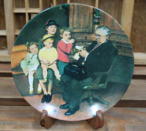 Norman Rockwell Plate (B)