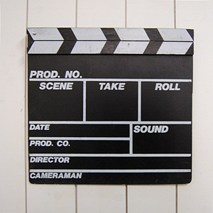 VINTAGE MOVIE CLAPBOARD
