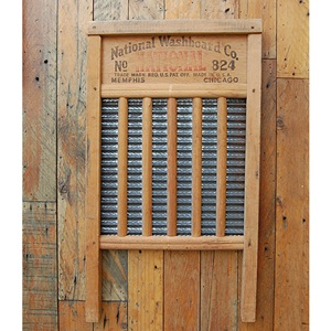 VINTAGE WOOD WASHBOARD -G-