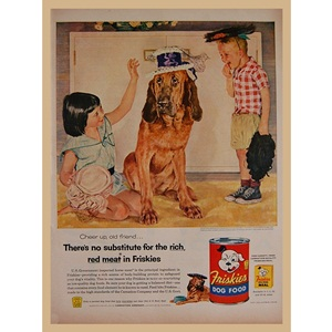 1955' FRISKIES DOG FOOD