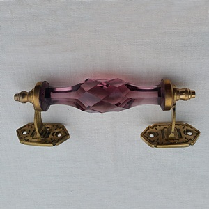 Crysta brass handle-Purple